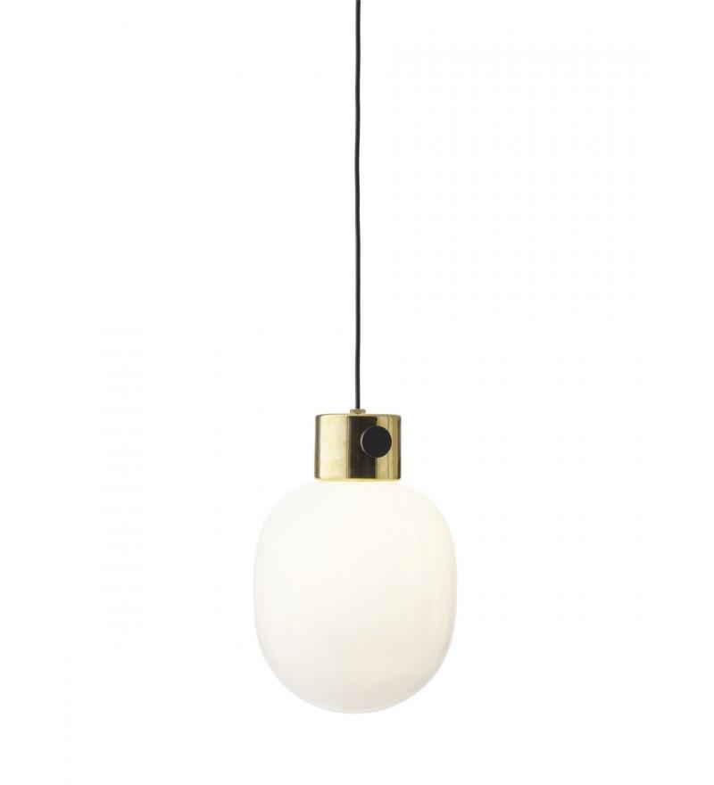 Lampa wisząca JWDA teraz z elementem lustrzanego mosiądzu, Menu, Pufa Design