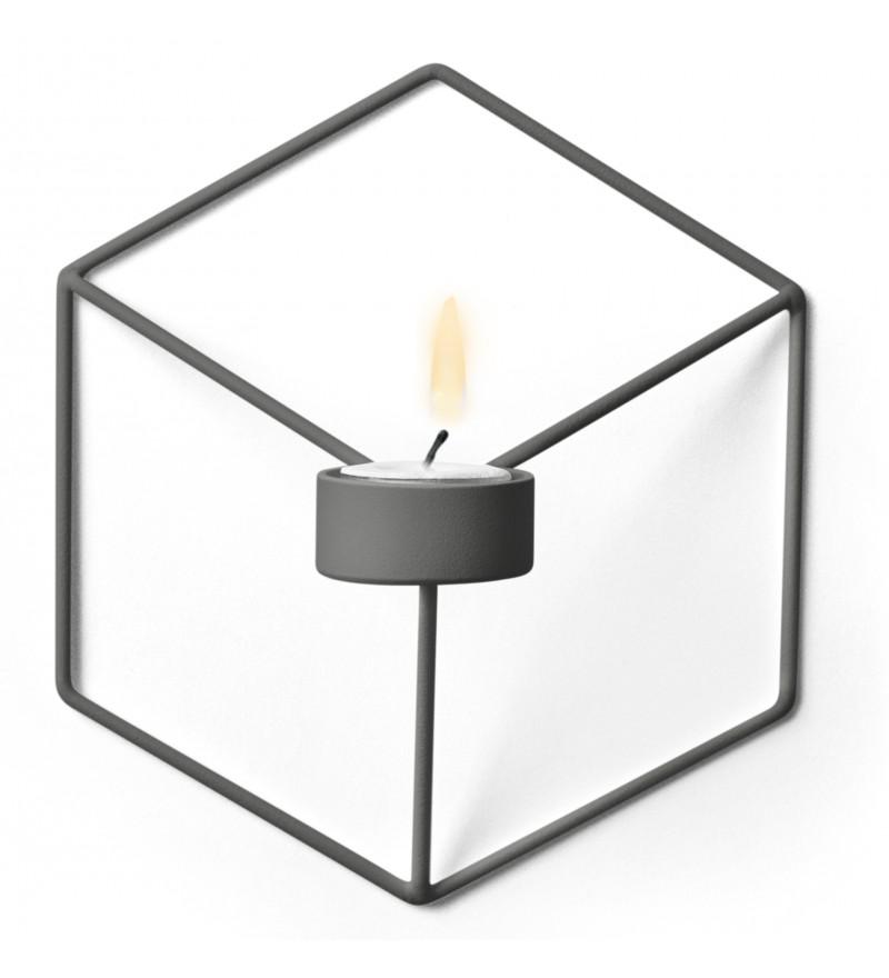 Geometryczne świeczniki Pov w wersji ściennej i stojącej, Menu, Pufa Design