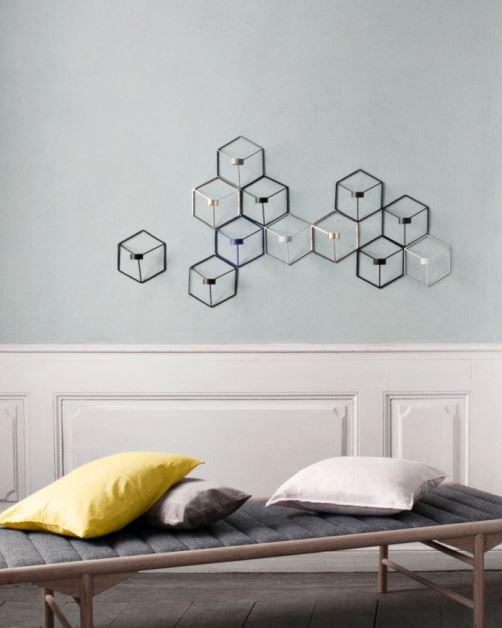 Pov w formie ściennej mozaiki, Menu, Pufa Design