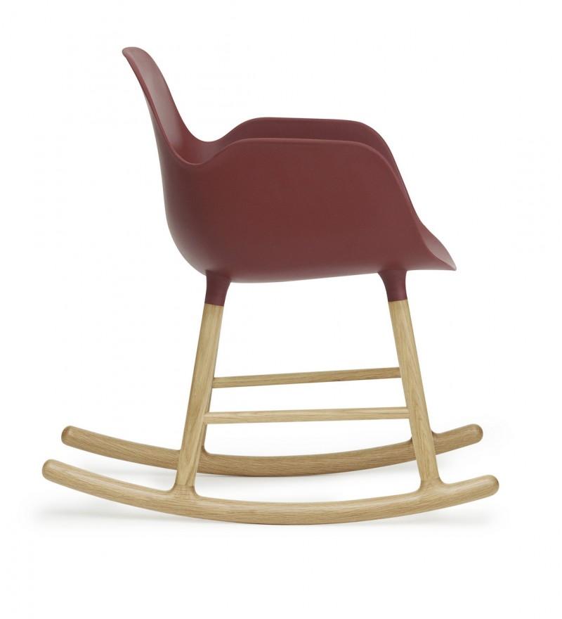 Fotel bujany Form Normann Coepnhagen, 5 kolorów, czerwony, Pufa Design