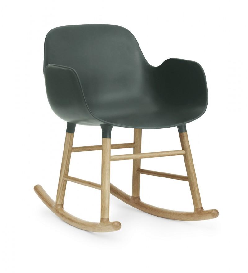 Fotel bujany Form Normann Coepnhagen, 5 kolorów, zieleń, Pufa Design
