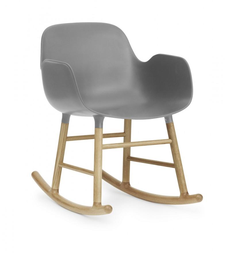 Fotel bujany Form Normann Coepnhagen, 5 kolorów, szary, Pufa Design