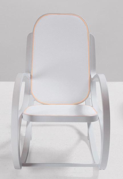 Fotel bujany Rock_Me Seletti, dwa pastelowe odcienie błękit i róż, Pufa Design