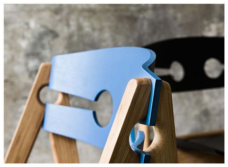 Zoom na detal, krzesło Dining, We Do Wood, Pufa Desig