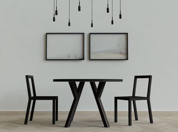 Stół okrągły HIM w czarnym dębie, Iwona Kosicka Design w Pufa Design