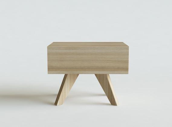 Delikatny, prosty i pełen uroku stolik nocny ZEN, Iwona Kosicka Design w Pufa Design
