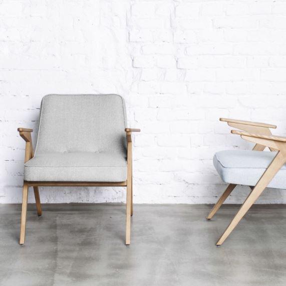 Fotel Buuny 366 z podłokietnikami, projekt Roman Modzelewski, 366 Concept, Pufa Design