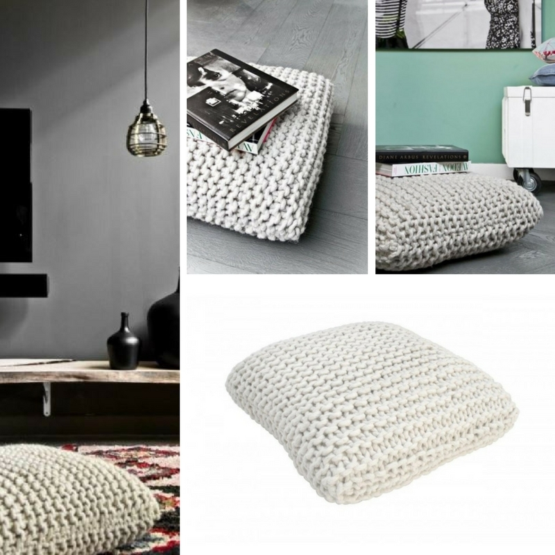 dziergana poduszka podlogowa do siedzenia hk living