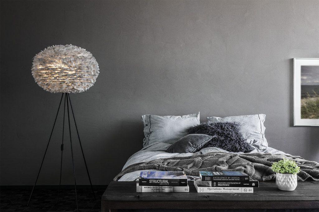 Lampa podłogowa Eos Light Grey Large, Vita Copenahgen, Pufa Design