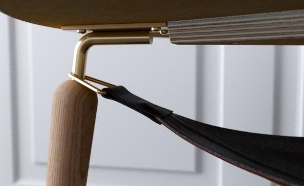 Zbliżenie na detal, Hang Out, Pufa Design