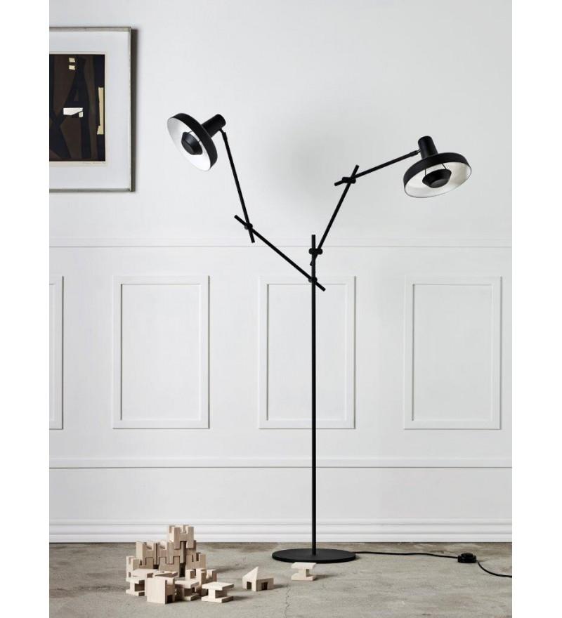 Lampa podłogowa ARIGATO FLOOR 2 - czarna