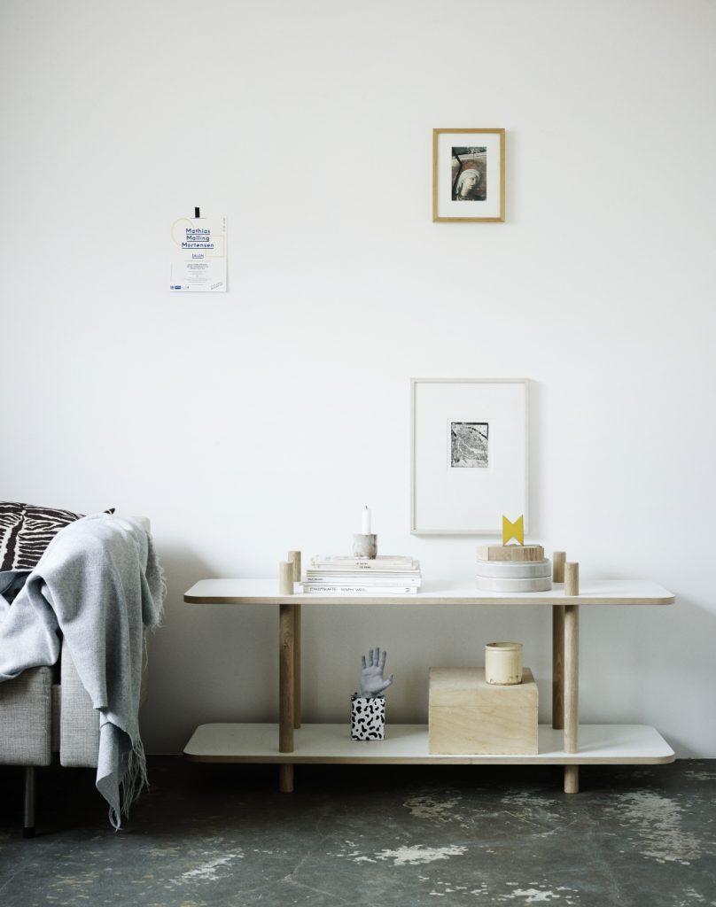 Wnętrze w stylu skandynawskim, Skagerak, Pufa Design