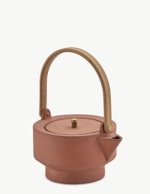Zestaw wraz z dzbankiem do herbaty z terakoty, Skagerak, Pufa Design