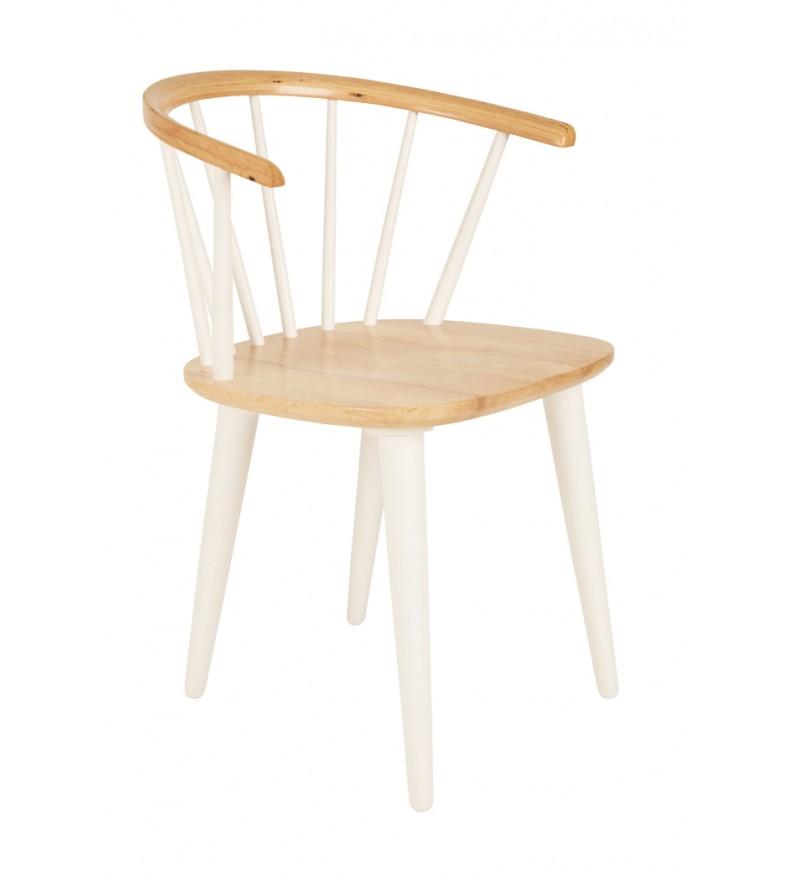 Krzesło drewniane GEE White Label Living, Pufa Design