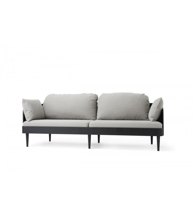 Sofa Septembre Menu - czarna / jasnoszara, Pufa Design