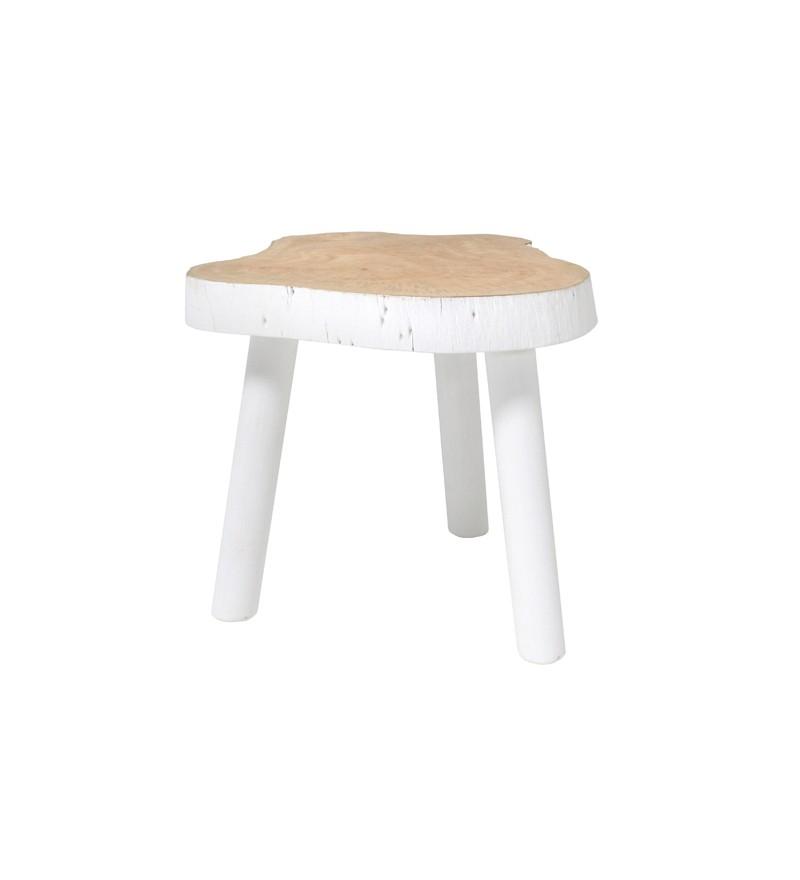 Stolik w kształcie pnia drewna HK Living, Pufa Design