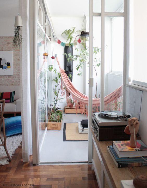 Balkon w stylu boho, inspiracja fot. Pinterest