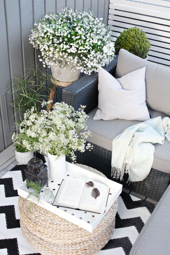 Balkon w skandynawskim stylu, inspiracja fot. Pinterest