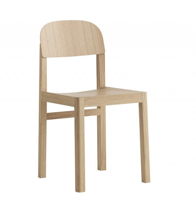 Krzesło drewniane Workshop, MUUTO, Pufa Design