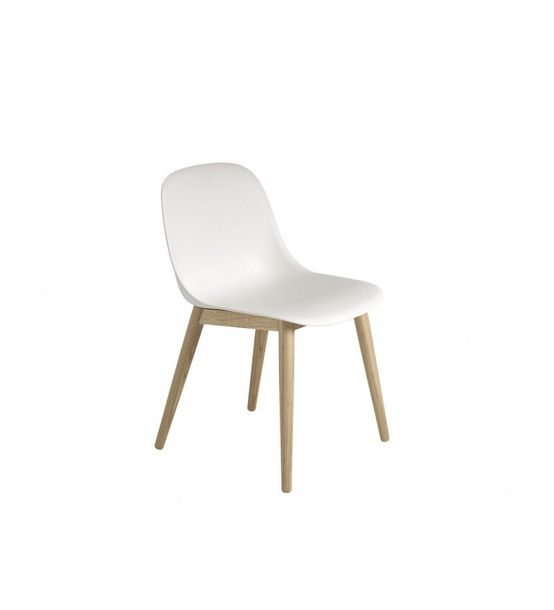 Krzesło Fiber na drewnianej podstawie, MUUTO, Pufa Design