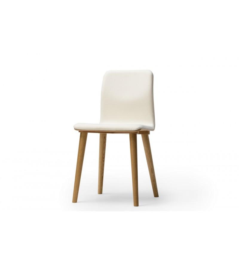 Krzesło tapicerowane Malmo, buk, TON, Pufa Design
