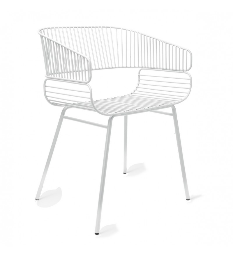 Krzesło TRAME Petite Friture - białe, pufa Design