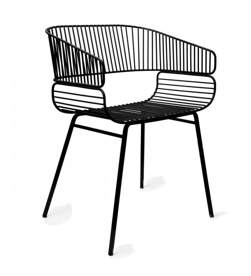 Krzesło TRAME Petite Friture - czarne, Pufa Design