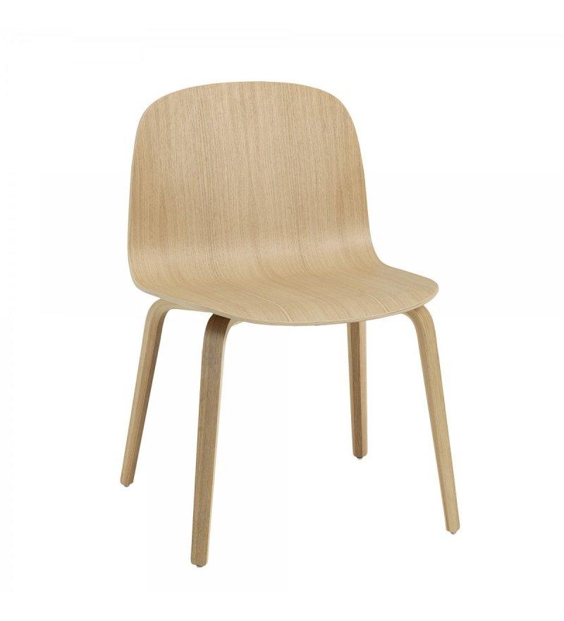 Krzesło drewniane Visu (dostępne różne kolory), MUUTO, Pufa Design