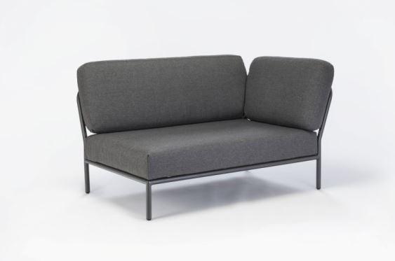 Sofa modułowa ogrodowa prawa Level HOUE - szara, na zewnątrz, Pufa Design