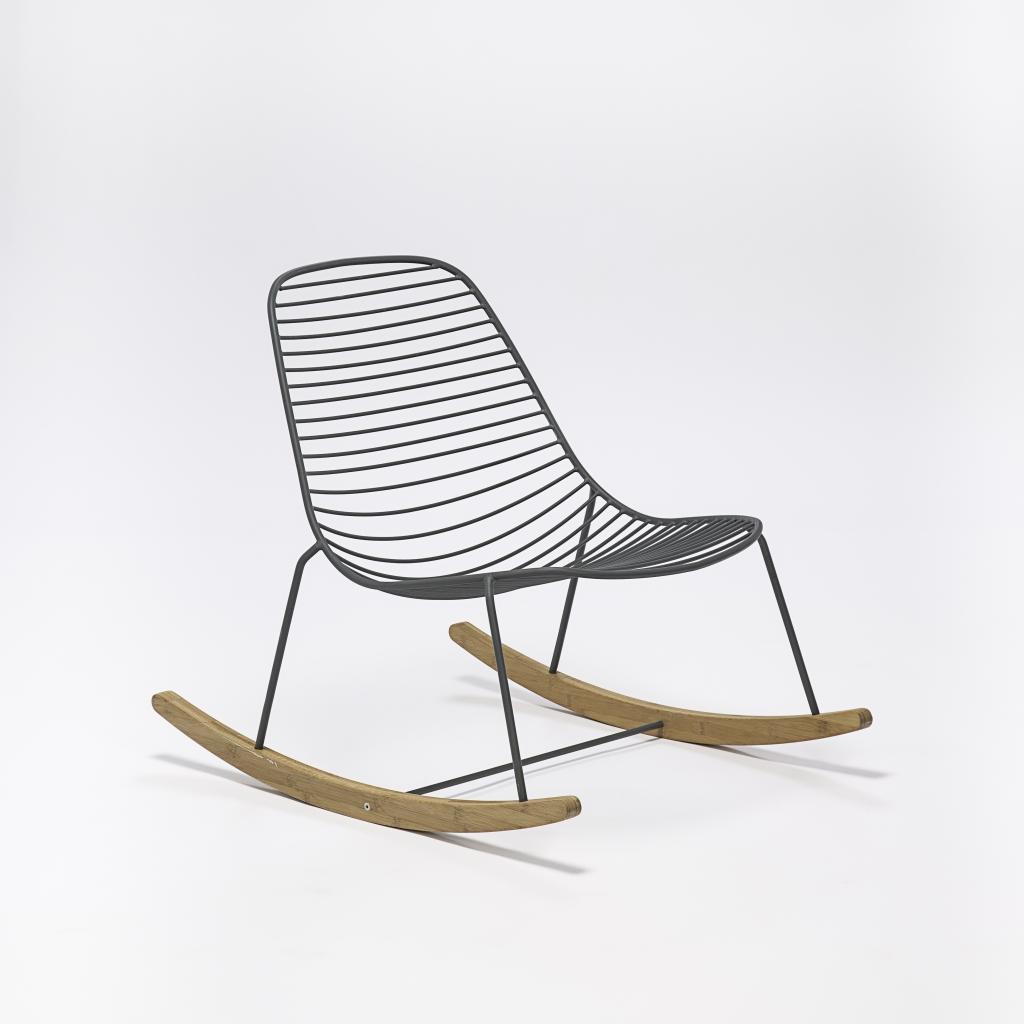 Krzesło bujane do ogrodu, model Sketch, Houe, Pufa Design
