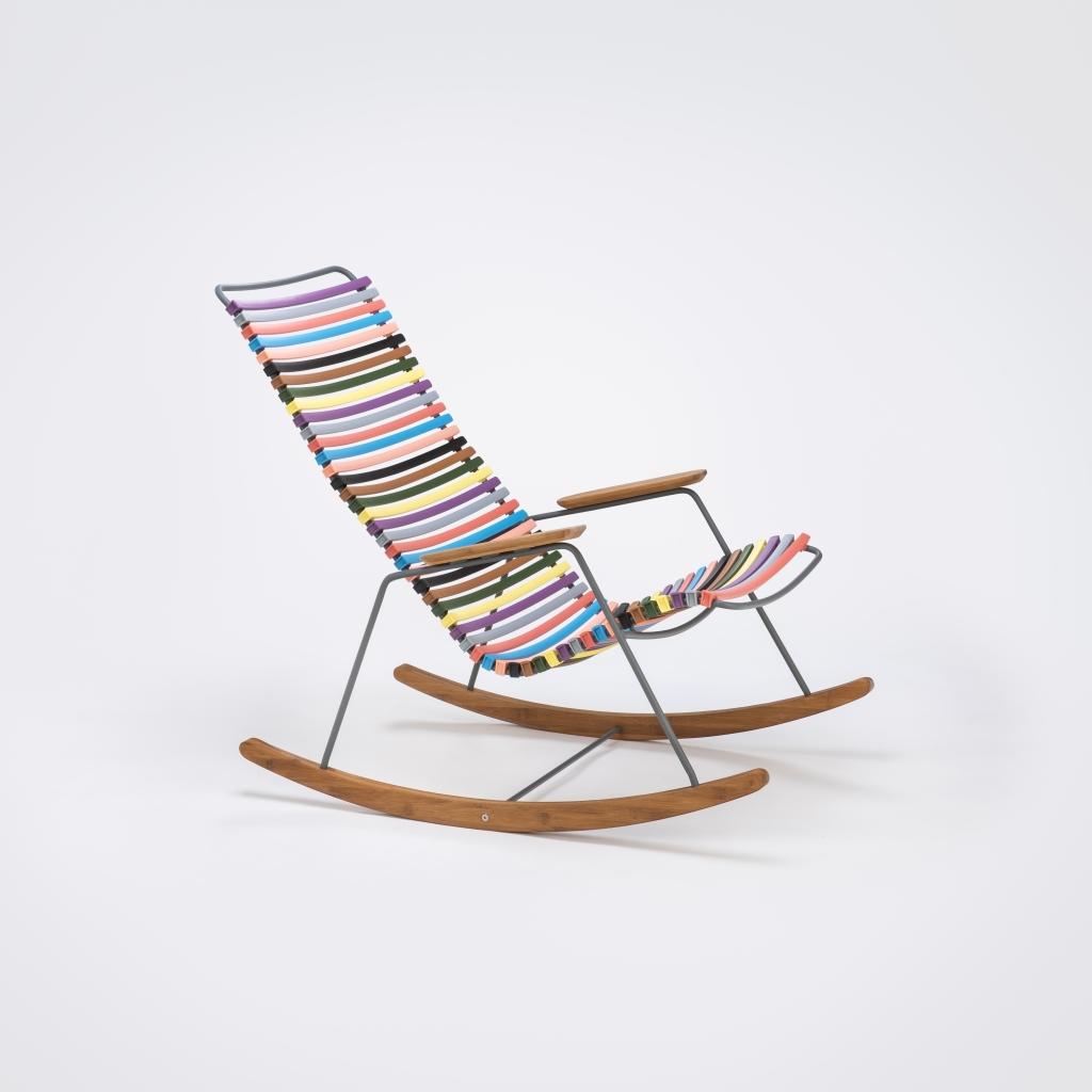 Krzesło bujane do ogrodu Click, Houe, Pufa Design