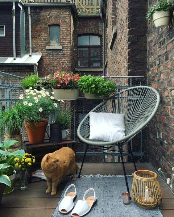 Jak urządzić mały balkon? - inspiracja, fot. Pinterest