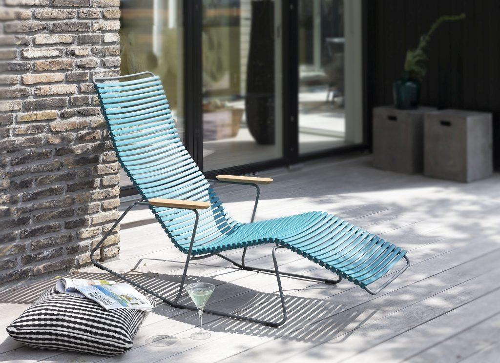 Wygodny fotel Houe można postawić wszędzie, w ogrodzie, na balkonie, na tarasie, Pufa Design