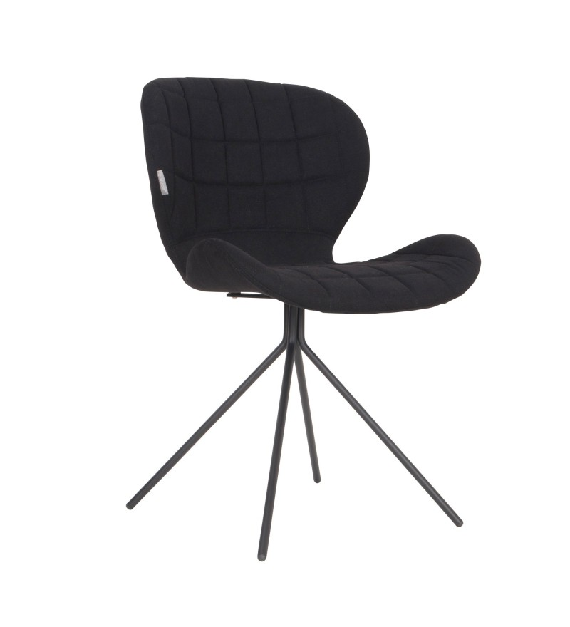 Krzesło OMG czarne Zuiver, Pufa Design
