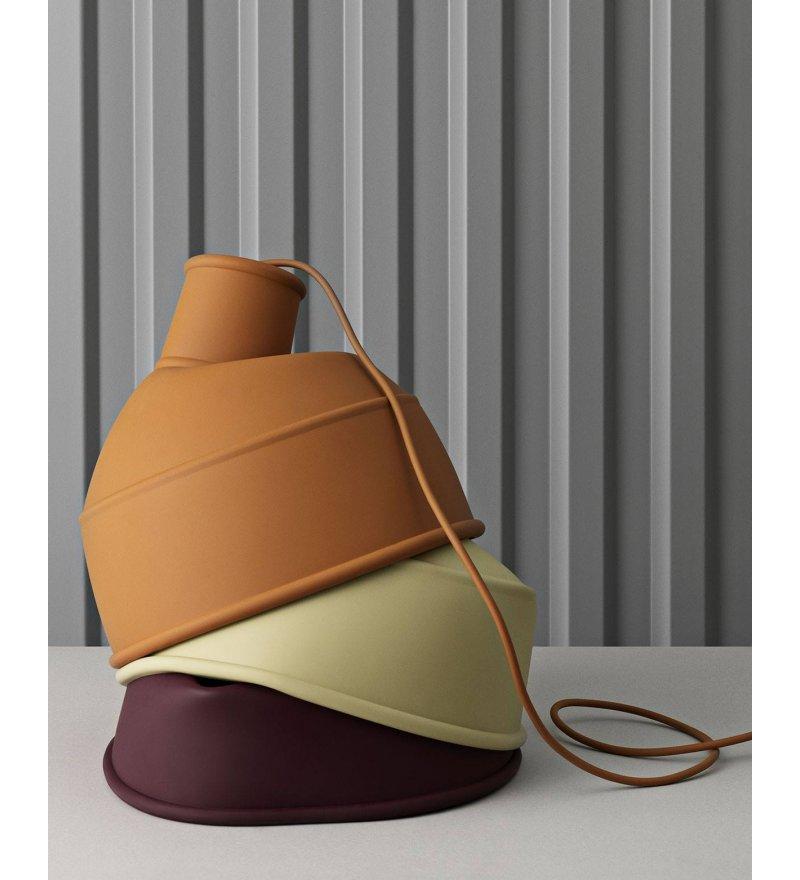 Silikonowa lampa Unfold od Muuto, różne kolory