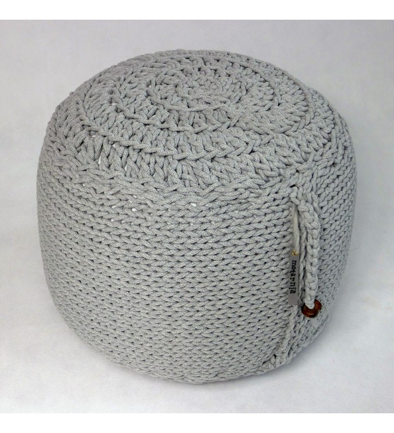 Okrągła pufa do siedzenia z koralikami, Motarnia