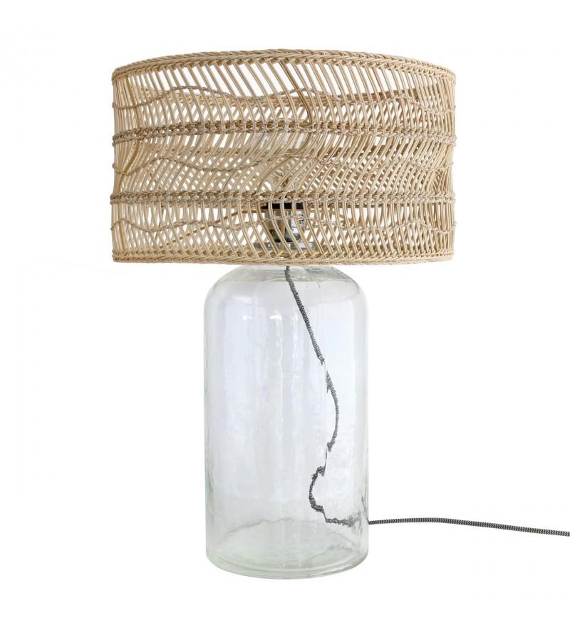 Stołowa lampa z przezroczystym abażurem, HK Living