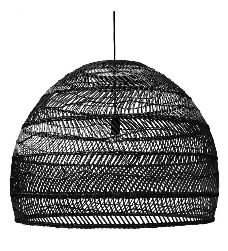 Wiklinowa lampa w kolorze czarnym, rozmiar L, HK Living