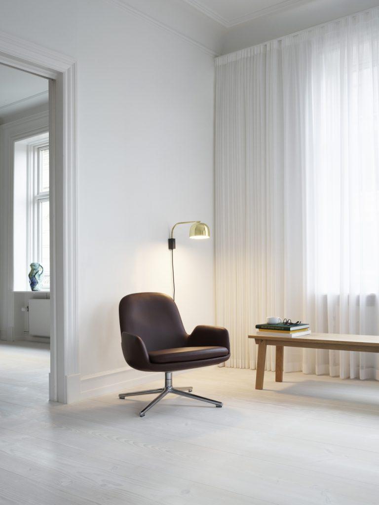 fot. Salon z wyposażeniem marki Normann Copenhagen