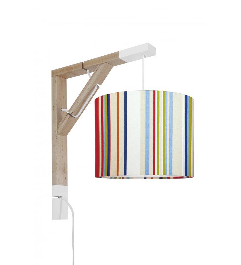 Lampa Simple kolorowe paski Young Deco