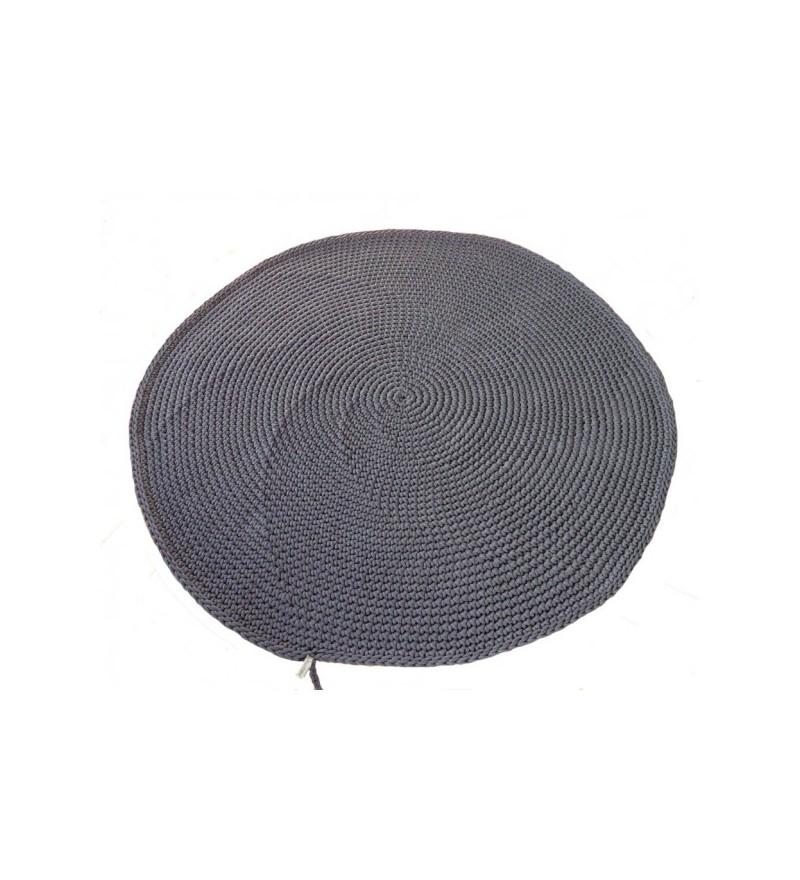 Okrągły dywan dziergany z bawełnianego sznurka Motarnia