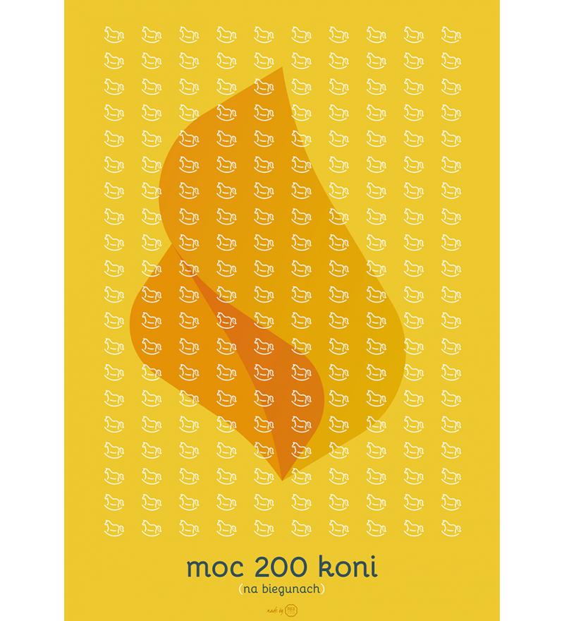 Plakat Pufa Design - Moc 200 koni - różne wielkości