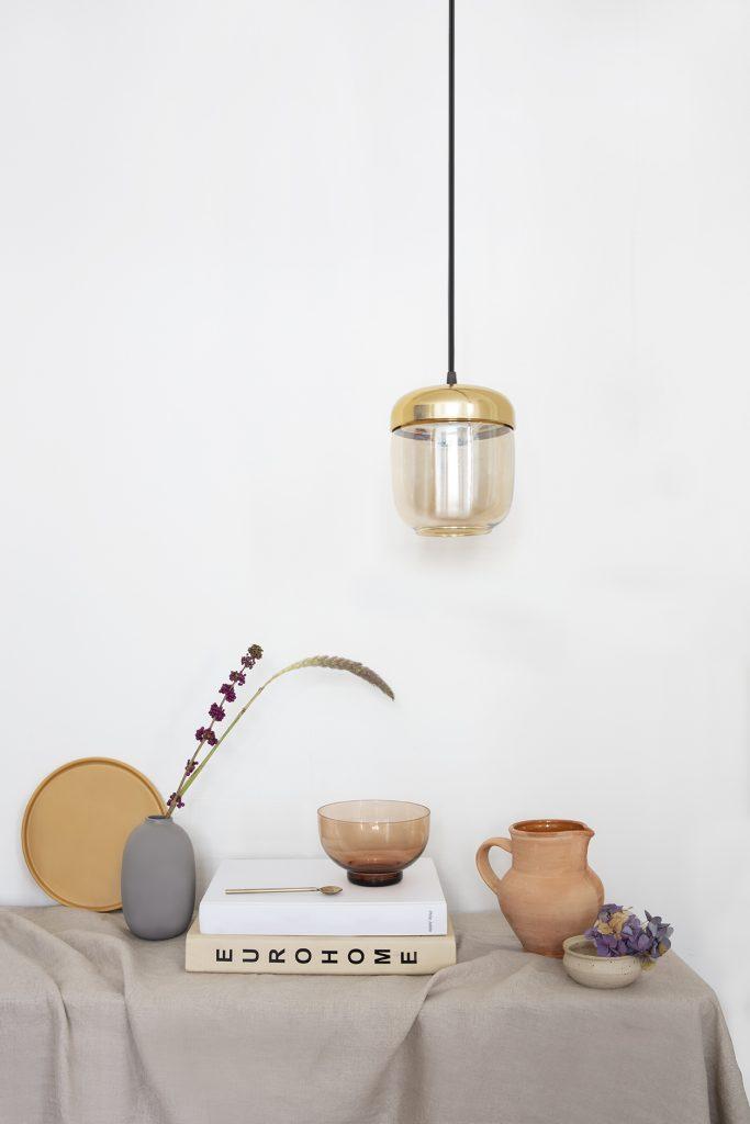 Lampa Acorn Amber Brass